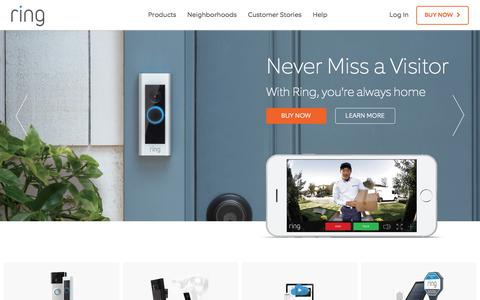 Screenshot of Home Page ring.com - Ring Video Doorbell for Your Smartphone   Ring - captured Jan. 6, 2017