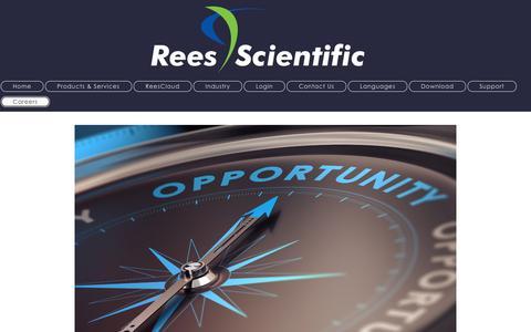 Screenshot of Jobs Page reesscientific.com - Rees Scientific - Automated Temperature Monitoring - Careers - captured Feb. 24, 2016