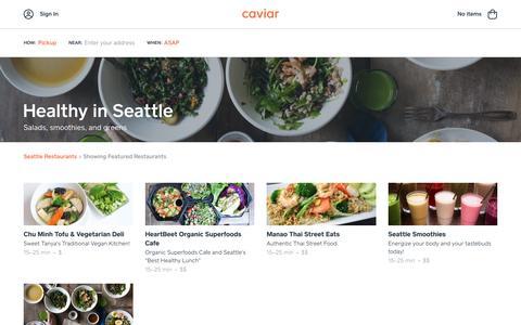 Healthy in Seattle | Caviar