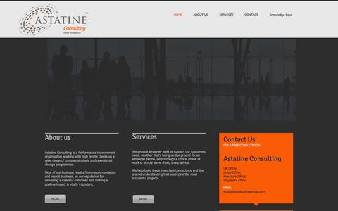 Screenshot of Home Page astatineconsulting.com - Astatine Consulting, Management Consultants - captured Oct. 4, 2014