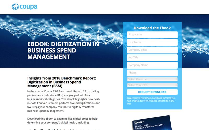 Digitization KPIs and Transformation | Business Spend Management | Coupa Software