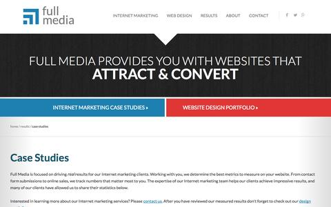 Screenshot of Case Studies Page fullmedia.com - Case Studies | Full Media - captured Sept. 19, 2014