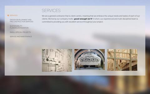 Screenshot of Services Page jungsten.com - Services | Jungsten Construction - captured July 11, 2017
