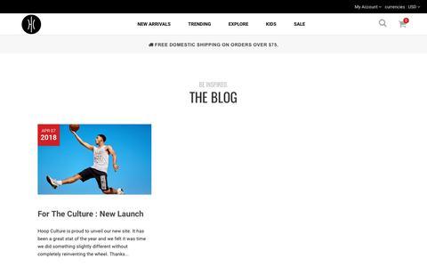 Screenshot of Press Page hoopculture.com - News – Hoop Culture - captured April 23, 2018