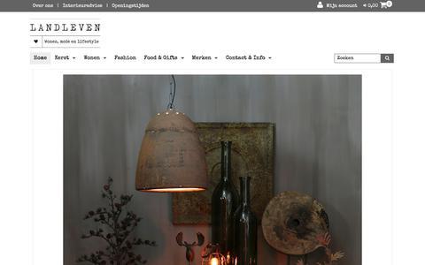 Screenshot of Home Page atelierlandleven.nl - Home | Atelier Landleven - captured Jan. 22, 2018