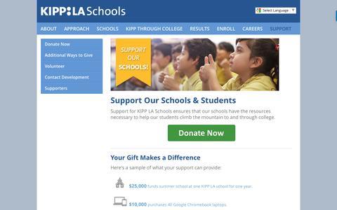 Screenshot of Support Page kippla.org - Support - captured Nov. 27, 2016