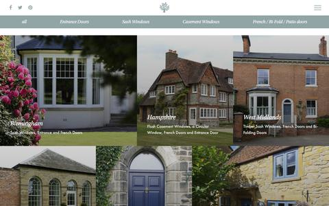Screenshot of Case Studies Page timberwindows.com - Case Studies | New timber doors and windows | Timber Windows - captured Oct. 22, 2017