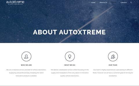 Screenshot of About Page autoxtreme.com.au - About – AutoXtreme Electronics - captured Oct. 4, 2018