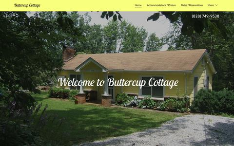Screenshot of Home Page saludabuttercupcottage.com - Buttercup Cottage - captured Oct. 31, 2018