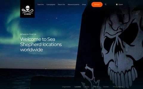 Screenshot of Locations Page seashepherd.nl - Sea Shepherd Netherlands - captured Oct. 18, 2018