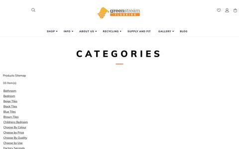 Screenshot of Site Map Page findcarpettiles.co.uk - Site Map | Greenstream Flooring CIC - captured Sept. 30, 2018