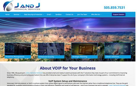 Screenshot of About Page jandjtech.com - Technical Service Installation-Manage Business VOIP System - captured Nov. 17, 2016