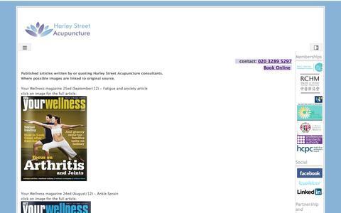 Screenshot of Press Page google.com - Press - Harley Street Acupuncture - captured July 11, 2016