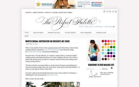Screenshot of Home Page theperfectpalette.com - The Perfect Palette - captured Jan. 14, 2016