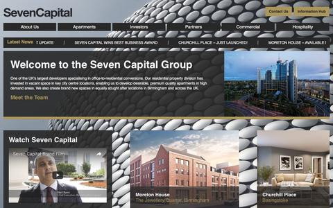 Screenshot of Home Page sevencapital.com - Seven Capital - Buy To Let Property Investment - captured Dec. 2, 2016