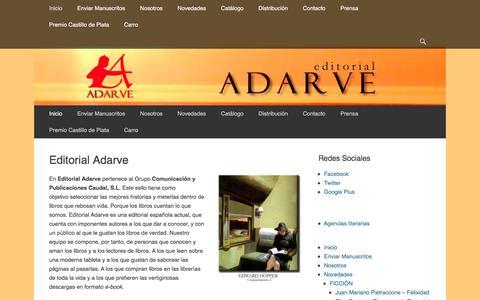 Screenshot of Home Page editorial-adarve.com - Editoriales España : editorial-adarve.com - captured Jan. 11, 2017