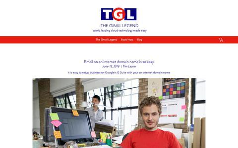 Screenshot of Blog tgl.com.au - Blog | TGL | The GmailLegend - captured Oct. 31, 2018
