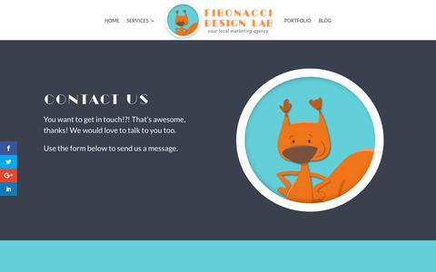 Screenshot of Contact Page fibonaccidesignlab.com - Websites to make life easier - captured Nov. 4, 2018