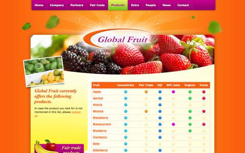 Screenshot of Products Page global-fruit.nl - Products Archive - Global Fruit B.V. - captured Sept. 30, 2014