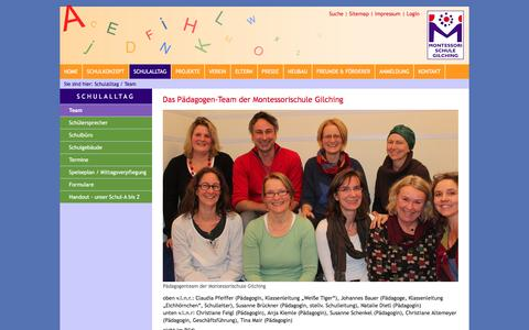 Screenshot of Team Page montessorischule-gilching.de - Montessori Schule Gilching im Münchner Westen: Team - captured April 2, 2017