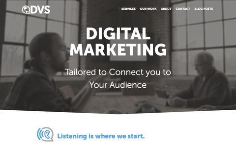 Screenshot of Home Page dvs.com - DVS - Digital Marketing Communications - DVS - captured Feb. 8, 2016