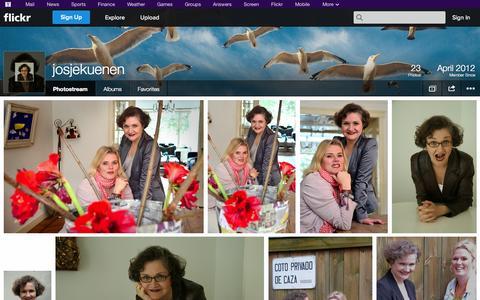 Screenshot of Flickr Page flickr.com - Flickr: josjekuenen's Photostream - captured Oct. 23, 2014