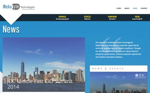 Screenshot of Press Page meta-byte.com - Metabyte - captured Oct. 27, 2014