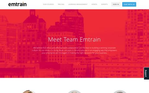Screenshot of Team Page emtrain.com - Our Team | Emtrain - captured Sept. 30, 2014