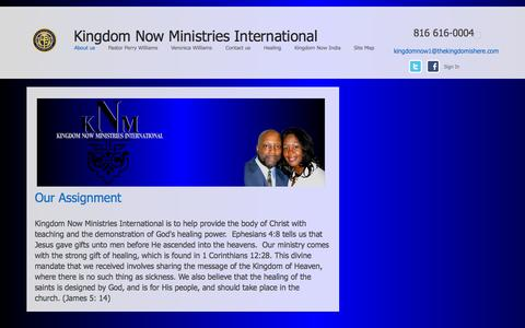 Screenshot of About Page thekingdomishere.com - Kingdom Now Ministries - captured Oct. 6, 2014