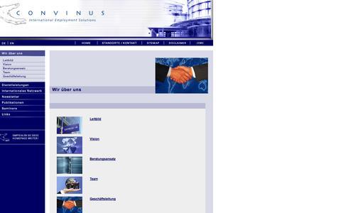 Screenshot of Jobs Page Site Map Page convinus.com - CONVINUS - Der Partner für international tätige Unternehmen (Steuern - Sozialversicherung - Vergütung - Vorsorge - Payroll - Arbeitsbewilligungen - International Assignment Management …) - captured Oct. 22, 2014