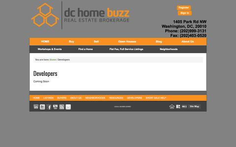 Screenshot of Developers Page dchomebuzz.com - Developers - captured Oct. 5, 2014