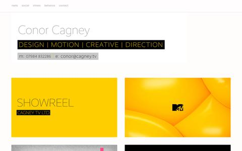 Screenshot of Home Page cagney.tv - CAGNEY TV - captured Sept. 26, 2018