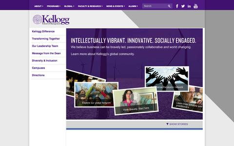 Screenshot of About Page northwestern.edu - About the Kellogg School of Management | Northwestern University - captured Sept. 18, 2014