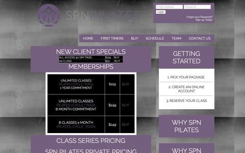 Screenshot of Pricing Page spnpilates.com - Pricing List - SPN Pilates - captured Nov. 5, 2018