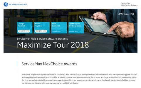 MaxChoice Awards   Maximize   ServiceMax