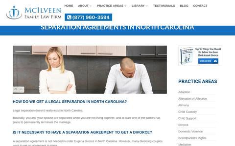 NC Separation Agreement | McIlveen Family Law Firm