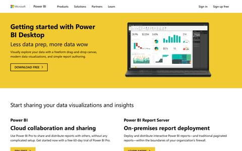 Screenshot of Signup Page microsoft.com - How to Get Started | Microsoft Power BI - captured May 8, 2017