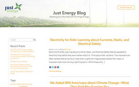 Screenshot of Blog Privacy Page justenergy.com - Just Energy Blog - captured June 25, 2018
