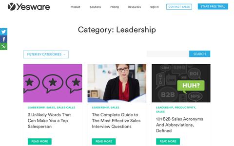 Screenshot of Team Page yesware.com - Leadership Archives | Page 2 of 4 | Yesware - captured July 12, 2019