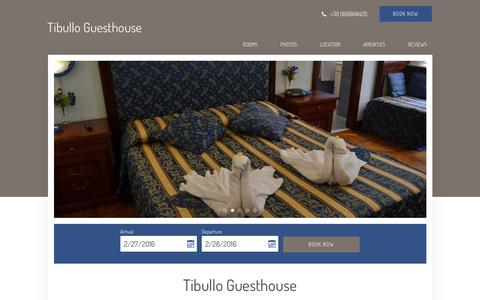 Screenshot of Home Page tibullo.com - Tibullo Guesthouse - Rome - Italy - captured Feb. 26, 2016