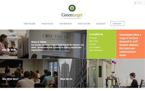 Screenshot of Team Page greentarget.com - Meet Our Team «  Greentarget - captured Feb. 2, 2019