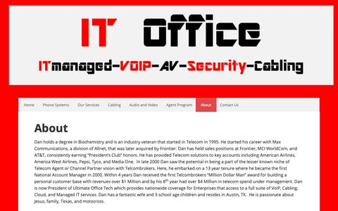 Screenshot of About Page ultimateofficetech.com - About - - captured Oct. 19, 2018
