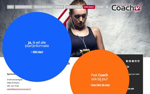 Screenshot of Contact Page sportcentrumcoach.nl - Contactgegevens van Sportcentrum Coach - captured June 15, 2017