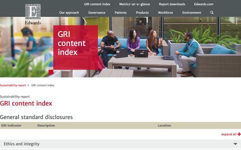 GRI content index – Edwards – Sustainability