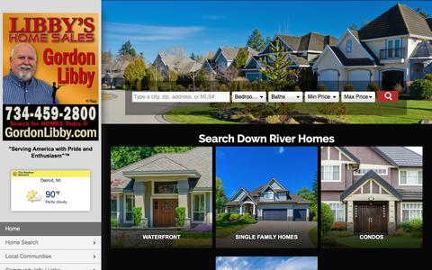 Screenshot of Home Page libbyshomesales.com - Libby's Home Sales I Gordon Libby | 734-216-2188 | Downriver MI Homes for Sale - captured July 2, 2018