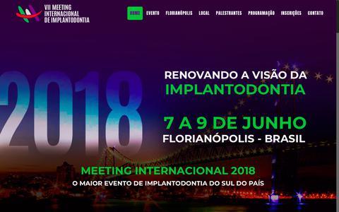 Screenshot of Home Page floripaimplante.com.br - Meeting internacional de Implantodontia - captured Oct. 24, 2018