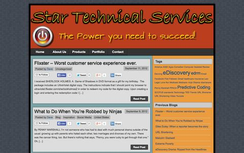 Screenshot of Home Page starts.com - Star Technical Services, LLC | Always Connected - captured Oct. 7, 2014