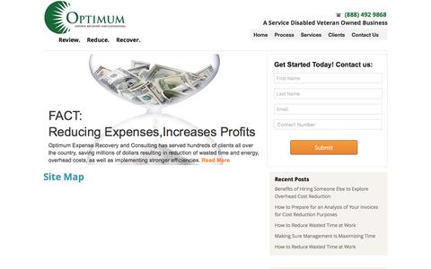 Screenshot of Site Map Page optimumerc.com - Site Map - Optimum Expense Recovery and ConsultingOptimum Expense Recovery and Consulting - captured Dec. 1, 2016