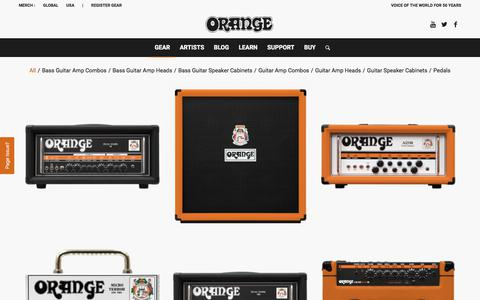 Screenshot of Products Page orangeamps.com - Products – Orange Amps - captured Sept. 24, 2018