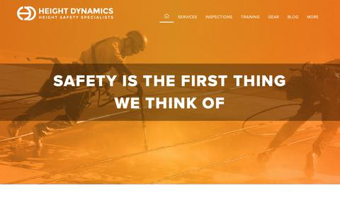 Screenshot of Home Page heightdynamics.com.au - Home - Height Dynamics - captured Dec. 21, 2018